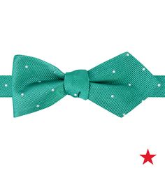 Bright colors give his dressier ensembles a fun, laid-back feel — especially when polka dots are involved! Tommy Hilfiger Wedding Dot pointed bow tie
