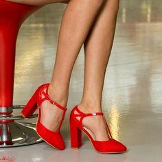 Pantofi cu Toc XKK150B Red Mei Pumps, Heels, Fashion, Heel, Moda, La Mode, Pump Shoes, Pumps Heels, Fasion