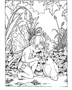 Coloring Pages of Fairies