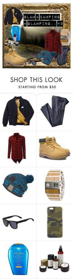 """""""Woods"""" by barberaz25 ❤ liked on Polyvore featuring Twins For Peace, LE3NO, Caterpillar, Backcountry, Nixon, Lacoste, Master-Piece, Shiseido, men's fashion and menswear"""