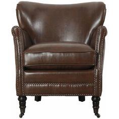 TOV Mercer Chocolate Leather Club Chair TOV-A40L3