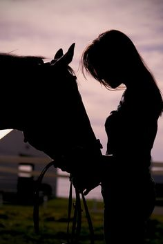No greater love than a girl & her horse! / silhouettes / photography
