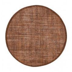 Linnetablett konjaksbrun rund