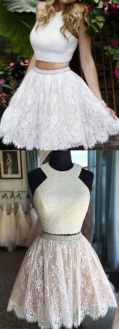 homecoming dress,2016 homecoming dress,short prom dress,lace homecoming dress,white homecoming dress