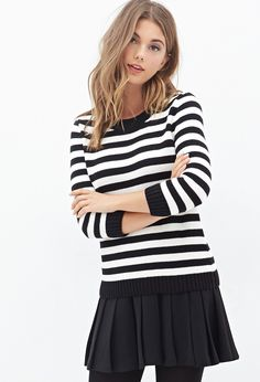 Striped Crew Neck Sweater | Forever 21 - 2000118639