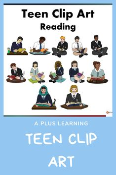 Make your Reading resources come to life with our Teen Reading Clip art.Excellent to have for high school resources especially those who create resources and a must have for classroom displays. Reading Resources, School Resources, Classroom Resources, Classroom Displays, Classroom Organization, Classroom Management, Teaching Posts, All Schools, Mobile Learning