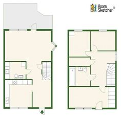 For both real estate developer & home buyer -- Helpful to see both floors of a 2-floor home for possible edits?  Are you ready to add that extra element to your real estate marketing with professional floors plans? Check out RoomSketcher Pro today!   http://www.roomsketcher.com/floorplans/  #floorplans #realestate