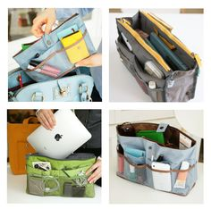Capitol Hill Style - Capitol Hill Style - The Perfect Bag Organizer for Cluttered Purses Handbag Organizer, Handbag Organization, Home Organization, Big Purses, Purses And Bags, Capitol Hill Style, Airplane Essentials, Organised Housewife, Diy Case