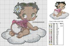 schema punto croce baby Bettu Boop