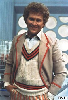 Colin Baker (the Sixth Doctor) in the Fifth Doctor's costume.