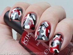 Red Camouflage Nails (via Bloglovin.com )