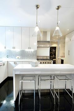 I would love this kitchen...but, in the suburbs of Dallas?  I think the homeowners association of Stepford Wives would have the house condemned!