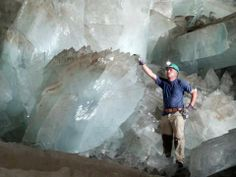 Since buried Atlantis of old, the Cave of giant crystals located inside the Naica mine in Chihuahua, Mexico was discovered accidentally in 2001 by two miners. The vibrations are so intense, that prevents the power released yet to study this site. The cave is located about 300 meters below the surface of the earth. It is the site containing the largest crystals known in the world, measuring some over 11 meters long and up to a weight of around 55 tonnes!