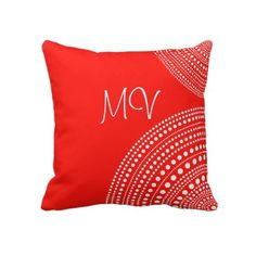 #Customizeable #red and #white #polka #dot #throw #pillow or #cushion.  Lumbar size available. http://www.zazzle.com/red_white_polka_dot_throw_pillow_or_cushion-189590368791298286?rf=238213022379565456