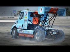 Amazing Rally Race in the Gymkhana Drifting Semi Truck