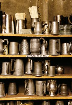 antique beer steins