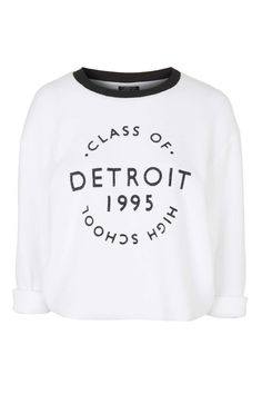 9453a23d4b434 Detroit Sweatshirt - Tops - Clothing - Topshop Europe Graphic Sweaters