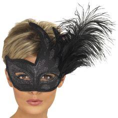 Ornate Columbina Feather Mask