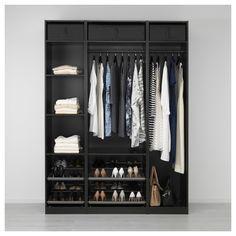 Pax Corner Wardrobe, Ikea Pax Wardrobe, Diy Wardrobe, Wardrobe Design, Wardrobe Storage, Pax Planer, Diy Kleidung Upcycling, Cheap Closet, Simple Closet