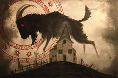 Valin Mattheis Black Phillip, Traditional Witchcraft, Scary Art, Creepy, Satanic Art, Tarot, Occult Art, World Of Darkness, Witch Art