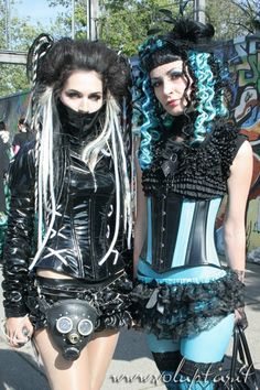 Lovely Cyber-Goth girls.
