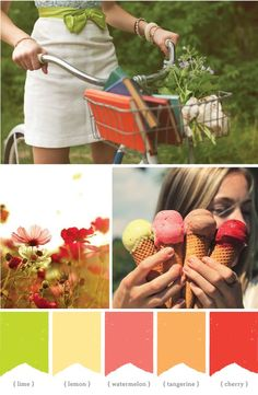 Simply beautiful. The thought of spring, ribbons, bicycles, colorfully-bound books and melty ice-cream cones just makes me smile :)