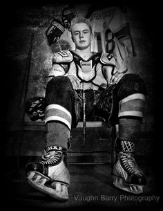 Hockey Portrait | Barrie, Ontario | Vaughn Barry Photography