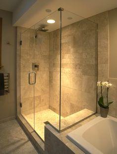 Traditional bathroom 534309943285405626 - Bathroom Walk-in Shower Design Ideas, Pictures, Remodel, and Decor – page 450 Source by doumerguefabric Walk In Shower, Shower Doors, Shower Tub, Shower Stalls, Frameless Shower, Large Shower, Small Shower Remodel, Remodel Bathroom, Bathroom Remodeling