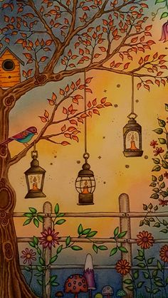 The Secret Garden Coloring Book Close Up Of Gazebo Two Page Spread Colored By Dayna