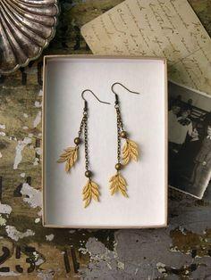 yellow earrings DAVINA lace earrings dangle earrings by whiteowl