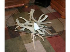 Antler Glass Top Coffee Table