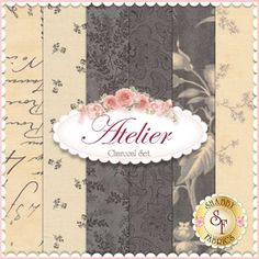 "Atelier 6 FQ Set - Charcoal by 3 Sisters for Moda Fabrics: Atelier is a collection by 3 Sisters for Moda Fabrics. 100% Cotton. This set contains 6 fat quarters, each measuring approximately 18"" x 21"""