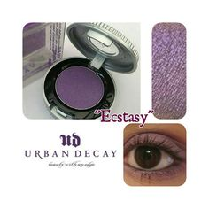 URBAN DECAY EYE-SHADOW SINGLE URBAN DECAY ECSTASY EYESHADOW SINGLE Medium-dark violet purple with a soft sheen (shimmer finish: a sexy sheen no glitter) BRAND NEW IN BOX 100% Authentic never used never swatched photos taken from personal stock price is firm! Urban Decay Makeup Eyeshadow