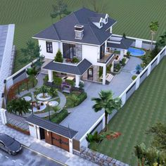 Two Story House Design, Best Modern House Design, Modern Exterior House Designs, Modern House Facades, Classic House Design, Village House Design, Modern Architecture House, Architect Design House, Bungalow House Design
