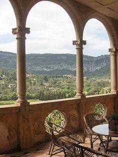 This is a view from a balcony - Mallorca Menorca, Ibiza Travel, Spain Travel, Tenerife, Beautiful Buildings, Beautiful Places, Places To Travel, Places To See, Isle Of Capri