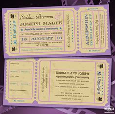Cinema and Movie themed Wedding Stationery -Tying the knot is a big occasion, with any number of details to think through. And, of course, before you do anything else, you have to invite the people you want to be there – or there won't be a wedding at all.    If you're feeling a little wary of