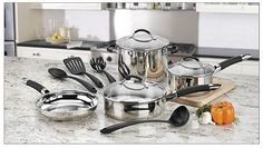 Cuisinart Pro Classic 11-Piece Stainless Steel Cookware Set Cookware Set, Cuisinart Cookware, Cooking, Kitchen, Pots, Stainless Steel, Amazon, Classic, Cucina