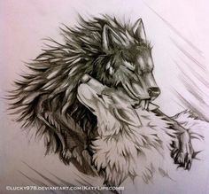 Fell again. And his imaginary white wolf mate. He's crazy XD ---- Open for commissions. Fell and the White Wolf Wolf Tattoos, Body Art Tattoos, Celtic Tattoos, Animal Tattoos, Wolf Tattoo Design, Tattoo Designs, Two Wolves Tattoo, Wolf Mates, Tier Wolf