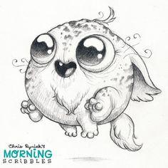 Quick crittter! #morningscribbles