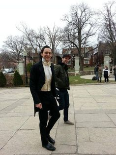 Tom on the set of Crimson Peak