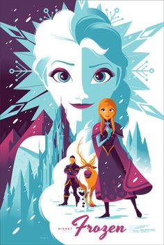 「アナと雪の女王」 Frozen Poster by Tom Whalen.
