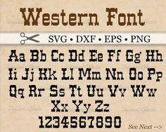 WESTERN Monogram SVG Font Western Alphabet SVG by DigitalEffectSVG