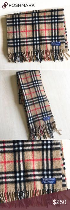 Burberry 100% Cashmere Scarf Burberry Scarf  Material: 100% Cashmere   -A8- Burberry Accessories Scarves & Wraps