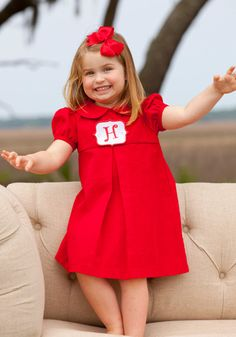 Red Tab Dress from Shrimp and Grits - great holiday dress!