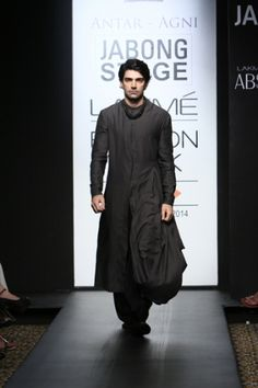 Antar-Agni by Ujjawal Dubey. LFW A/W 14'. Indian Couture.