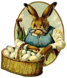 Free vintage Easter clip art from VintageHolidayCrafts.com