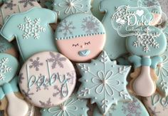 Winter Wonderland Baby Shower Cookies - 1 Dozen (12 Pcs) by Dolce Custom Cookies on Gourmly