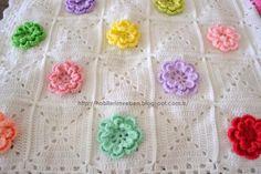 tığ işi çiçekli bebek battaniyeleri - Google'da Ara