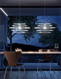 LED metal pendant lamp ORBITA by Olev by CLM Illuminazione design STEFANO TONELLOTTO, Marco Alessi, Simone Menegatti