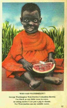 Black Sambo Post card 1920s